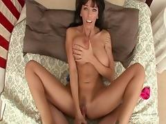Crazy pornstar Alia Janine in incredible anal, brunette porn video porn tube video