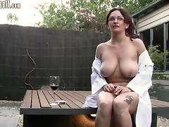 Incredible Amateur clip with Big Tits, Outdoor scenes