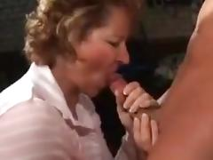 Marine German mature with Boy in the garage tube porn video