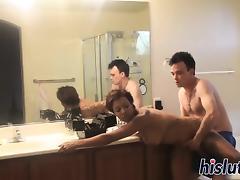 Tattooed black floozy enjoys being fucked hard porn tube video