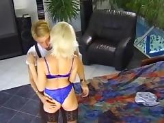 Hot blonde Nora screwed in both her holes porn tube video