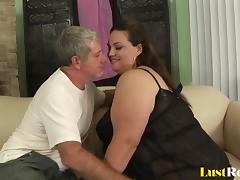 BBW Angelina has her way of pleasing men porn tube video