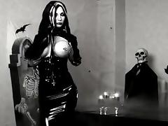 Black Latex Gothic Lady