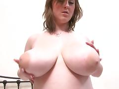 Malibu gets slutty in fishnet stockings and hard nipple pinching porn tube video