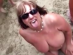 2 mature sluts suck several cocks