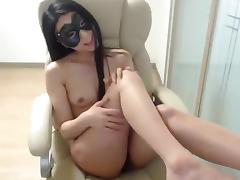 Oriental_girl: brunette fucks herself in a chair porn tube video