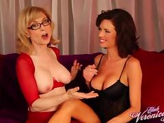 Cunt-sucking sluts Nina Hartley and Veronica Avluv nude and lustful tube porn video
