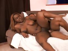 Thick Black Slut Creamed On Her Fat Ass