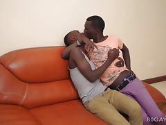 Black Africans Manu and Dulani Bareback tube porn video