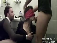 Blindfolded, Amateur, Blindfolded, Blowjob, College, Hardcore