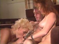 Taking one another lustfully during their hot threesome porn tube video