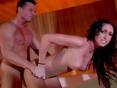 Horny pornstar Rhiannon Bray in incredible blowjob, cunnilingus xxx clip