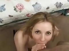 Swallowing cock finished a hearty trigger