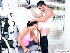 horny milf gets fucked in gym by her son's friend tube porn video