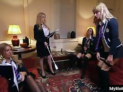 Kinky babes use various love toys for their pulsating cunts porn tube video