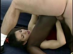 Black girl Fisted and DP'd by white couple. porn tube video