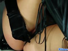 Glam euro straponfucked before bukkaked porn tube video
