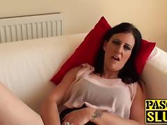 Hot and amazing brunette Missy K finger fucking her cunt porn tube video
