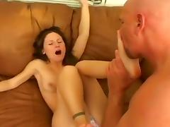 Feet, Big Tits, Blowjob, Brunette, Couple, Feet