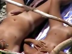 Beach, Beach, Couple, Handjob, Nude, Outdoor