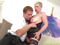 Busty stepmom enjoys stud cock