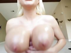 BIG TITTS BLONDE TIGHT TITFUCK CUMSHOT porn tube video