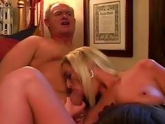 Two Sluts Get Stuffed By Three Cocks