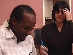 Michelle's Interracial French Lesson