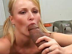 Sharon Gets Two Feet Of Dick In Her