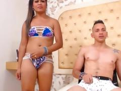 Tranny gets fucked from behind