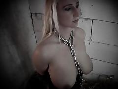 SLAVE IN THE CELLAR - big tits blonde fucked music video tube porn video
