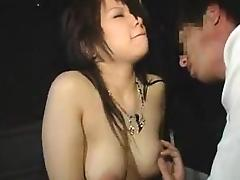 Cute Asian girl with lovely boobs has fun with a horny boy