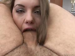 pushed cock deep into her mouth @ rocco's intimate castings