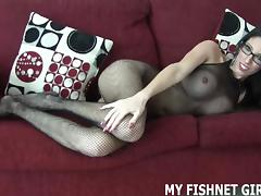 Rub your cock on my silky soft body stocking JOI tube porn video