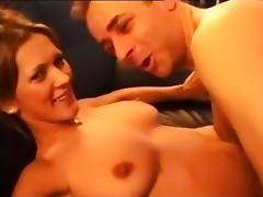 Horny Amateur record with Big Tits, Threesome scenes