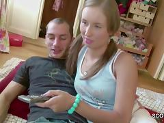 Brother Blackmail Petite Virgin Step-Sister to First Fuck