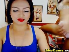 Hot Nasty Shemale Duo Giving Anal Pleasure