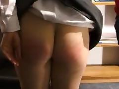 Schoolgirl  Bare-Bottom Spanking porn tube video