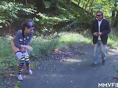 German punk Teen swallows old cream porn tube video