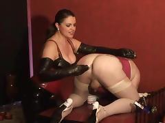 German mistress slave anal training tube porn video