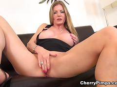 Amber Michaels Solo - CherryPimps porn tube video