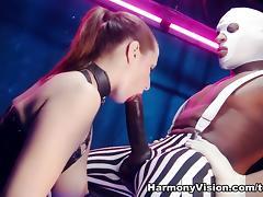 Latex, Big Tits, Facial, Interracial, Latex, Stockings