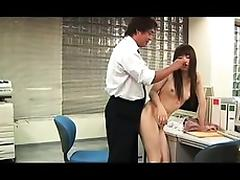 Slim Japanese cutie with a sweet ass has fun with a guy in porn tube video