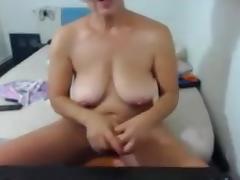 Old Granny Fucking Dildo porn tube video