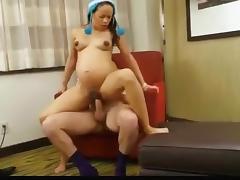 Brunette, Blonde, Brunette, Fucking, Hardcore, Pregnant