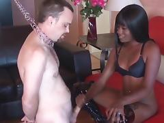 Femdom plays with Slave