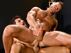 Cock Fight! XXX Video: Landon Conrad & Adam Ramzi - FalconStudios