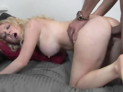 Slutty coed Nicki Blue takes a big cock in her tight butt porn tube video