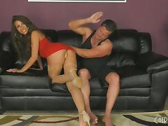 Spanking, Couple, Doggystyle, Hardcore, Nylon, Punishment
