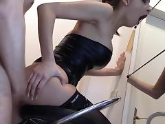 fucking brunette during makeup black stockings porn tube video